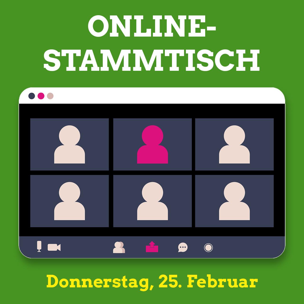 Online-Stammtisch im Februar